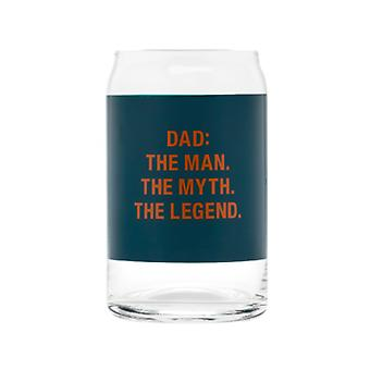 Say What Dad the Legend Beer Can Glass (Green)