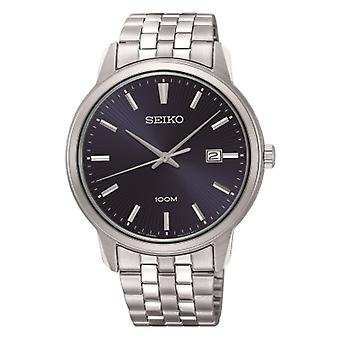 Seiko Watches Sur259p1 Navy Blue & Silver Stainless Steel Men's Watch