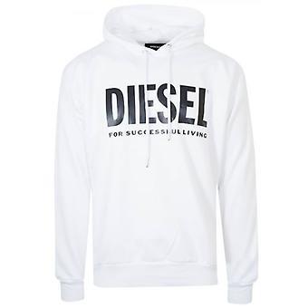 Diesel valkoinen logo huppari