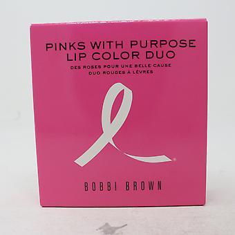 Bobbi marrón rosas con propósito color de labios dúo / nuevo con caja