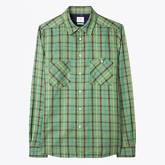 PS Paul Smith - Bomuld-Linned Check Shirt - Grøn