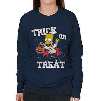 The Simpsons Trick or Treat Bart Halloween vrouwen ' s Sweatshirt