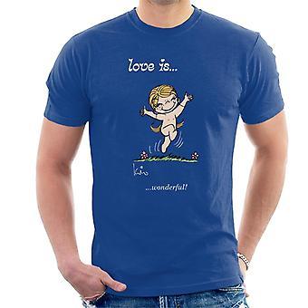 Love Is Wonderful Men's Camiseta