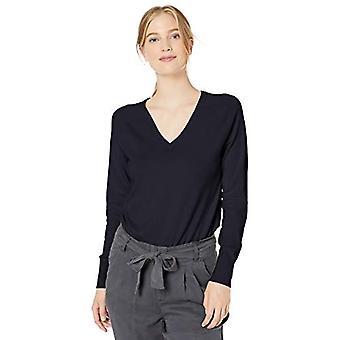Brand - Daily Ritual Women's Fine Gauge Stretch V-Neck Pullover Sweate...