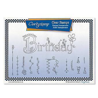 Claritystamp Syntymäpäivä Dangles Selkeät postimerkit