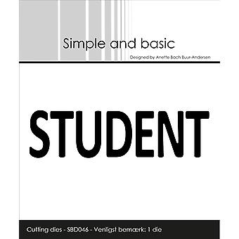 Simple and Basic Text Plate Student Die