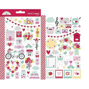 Doodlebug Design Love Notes Mini -kuvakkeet Tarra