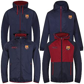 FC Barcelona Official Football Gift Mens Shower Jacket Windbreaker
