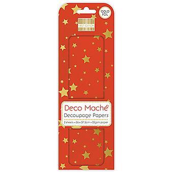 Primera Edición Deco Mache Gold Stars