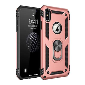 R-JUST iPhone XS Case - Shockproof Case Cover Cas TPU Pink + Kickstand