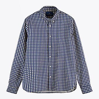 Scotch & Soda  - Cotton Check Shirt - Navy