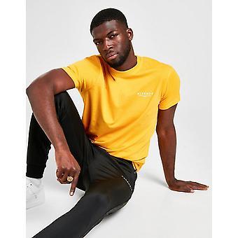 New McKenzie homens ' s essencial manga curta T-shirt amarelo
