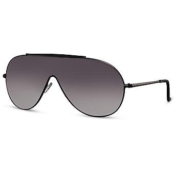 Solglasögon Unisex pilot katt. 3 svart/svart