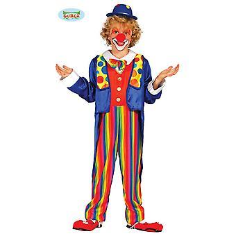 Färgglada clown - dräkt för barn cirkus barn kostym