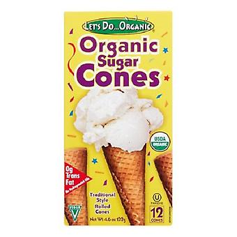 Let's Do Organic Sugar Cones Rolled Style Ice Cream Cones