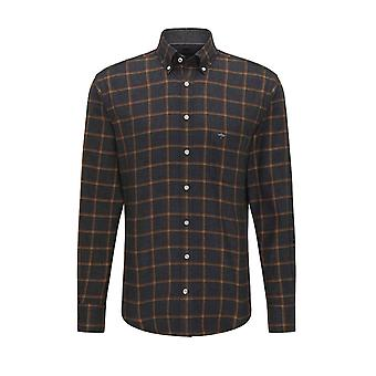 Fynch-Hatton Fynch-hatton Long Sleeved Button Down Collar Shirt Anthera Check