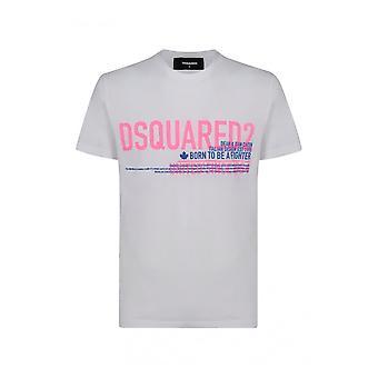 Dsquared2 S71gd0949s22427100 Män's Vit Bomull T-shirt