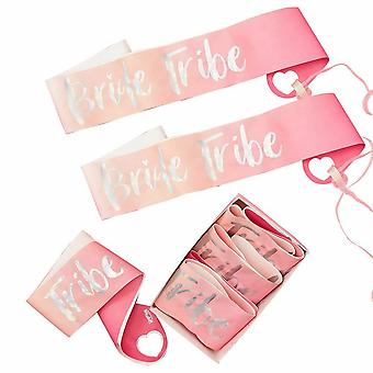 Hen Party Sashes - 6 Pack - Bride Tribe - Wedding