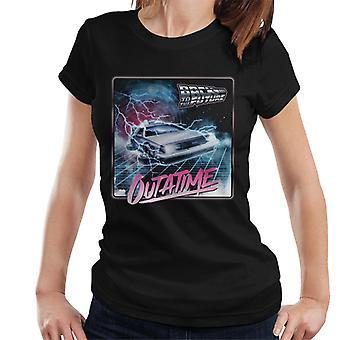 Takaisin tulevaisuuteen Delorean Lightning Outatime Women's T-paita