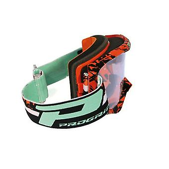 Progrip 3450-16FLBKOR Progrip Goggles - 3450 Fluorescent Orange/Blk