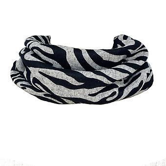 Animal Zebra Print Snood Neckwarmer | Grey