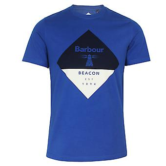 Barbour beacon men's diamond nautical blue t-shirt