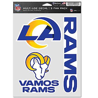 NFL Stickers Multi-Use Set of 3 20x15cm - Los Angeles Rams