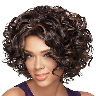 Wiggle  African Short Curled Hair Wig Cap