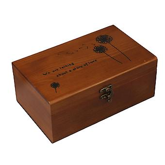Vintage Home Sewing Tool Storage Box 21.5x13.5x9cm Dandelion Pattern