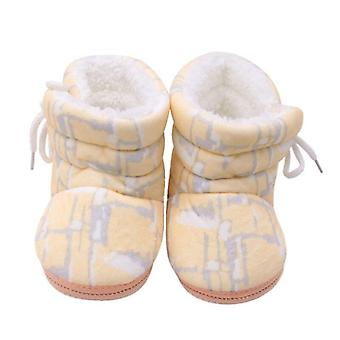 Boots Booties Floral Print Winter Soft Infant Warm Baby Shoes