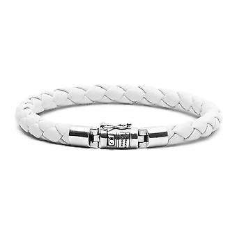 Buddha To Buddha J545WH F Ben XS Round Leather White Bracelet