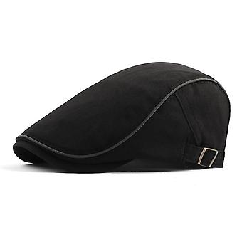 Cotton Breathable Adjustable Beret Caps Summer Thin Classic Retro Outdoor