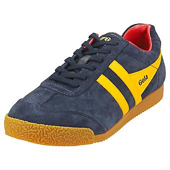 Gola Harrier Womens Classic Trainers in Navy Sun Red