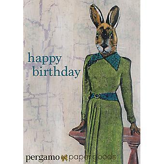 Fancy Rabbit - Happy Birthday Card