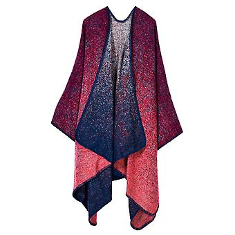 Ladies Autumn And Winter Plus Size Red Warm Scarf Blanket Shawl