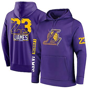 Los Angeles Lakers No.23 Lebron James Pullover Hoodie Swearshirt Tops 3WY019