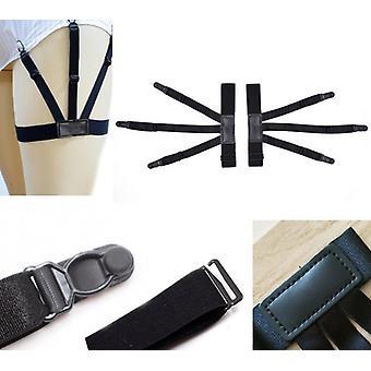 Chemise homme, ceinture de séjour avec clips de verrouillage antidérapants, garder la jambe rentrée chemise &