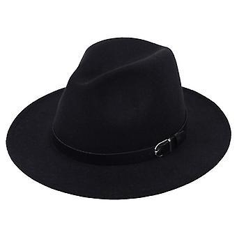 Classique britannique Fedora And Imitation Woolen Winter Felt Hats Fashion Jazz Hat