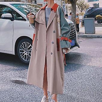 Women Trench Coat, Fall Winter Casual Cotton With Over Size, Long Coats,