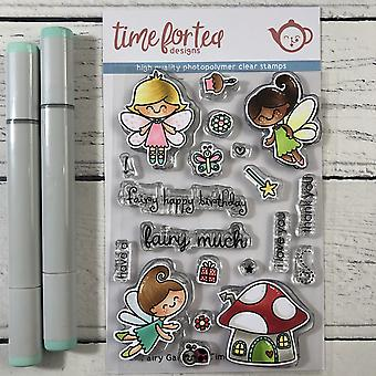 Time For Tea Fairy Garden Clear Stamps
