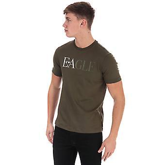 Menn's Armani Logo T-skjorte i grønn