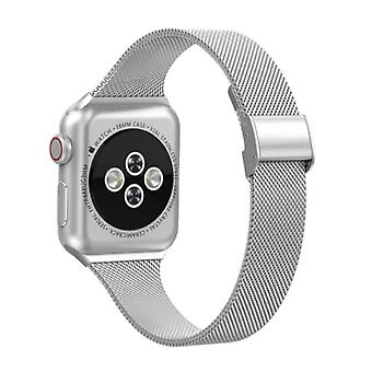 HZCXMU Milanese Mesh Strap for iWatch 38mm - Metal Luxury Bracelet Wristband Stainless Steel Watchband Silver
