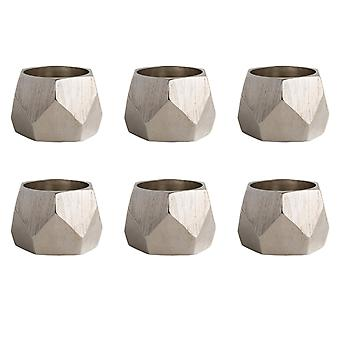 Dii Silver Triangle Band Napkin Ring (Set Of 6)