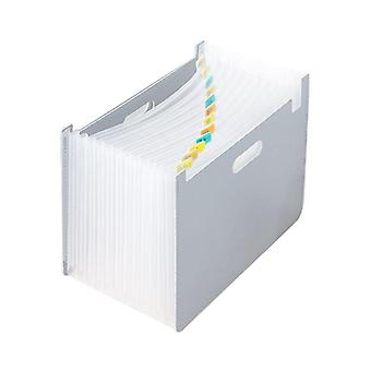 Cartella file di espansione multi tasche, supporto per l'archiviazione della carta del documento organizzatore