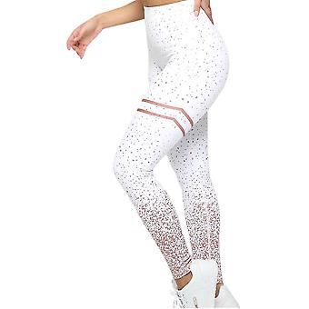 Vrouwen Gold Print Push Up Workout Leggings