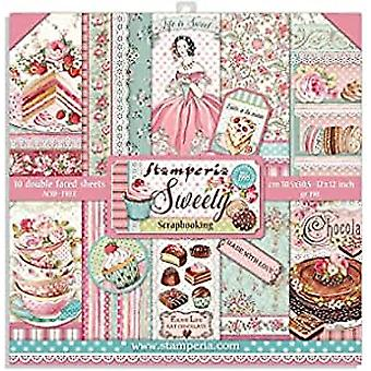 Stamperia Sweety 12x12 Inch Paper Pack