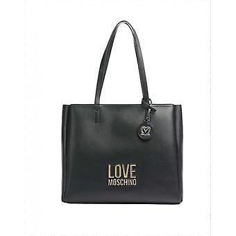 Laukku Nainen Love Moschino Shopping Ecopelle 3 Osastot Musta Bs21mo14 Jc4108