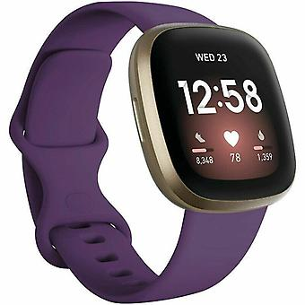 "for Fitbit Versa 3 / Sense Replacement Strap Silicone Band Bracelet Wrist[Small Fits Wrist 5.5"" - 6.9"",Purple]"
