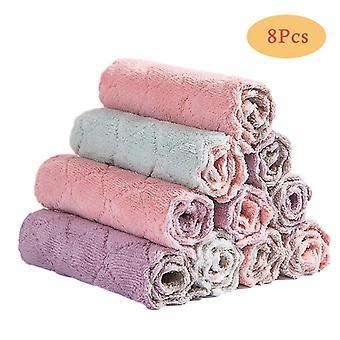 Panno per piatti assorbente per asciugamani da cucina in microfibra