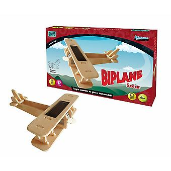 Solar biplane 17 pieces no glue or tools needed